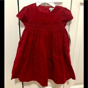 NWT Ralph Lauren Red Corduroy Dress 9 months